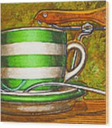 Still Life With Green Stripes And Saddle  Wood Print by Mark Howard Jones
