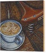 Still Life With Ladies Bike Wood Print by Mark Howard Jones