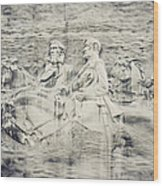 Stone Mountain Georgia Confederate Carving Wood Print by Lisa Russo