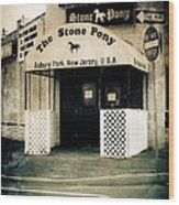 Stone Pony Wood Print by Colleen Kammerer