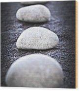 Stones Wood Print by Elena Elisseeva
