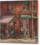 Store - Albany Ny -  The Bayou Wood Print by Mike Savad
