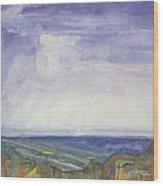 Storm Heaves - Hog Hill Wood Print by Grace Keown