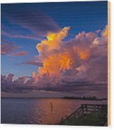 Storm On Tampa Wood Print by Marvin Spates