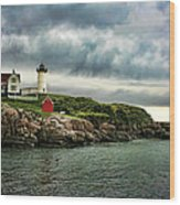 Storm Rolling In Wood Print by Heather Applegate