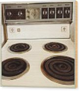 Stove Top Wood Print by Les Cunliffe