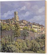 St.paul De Vence Wood Print by Guido Borelli