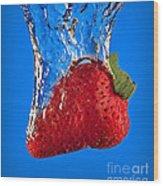 Strawberry Slam Dunk Wood Print by Susan Candelario