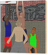 Streetball Shirts And Skins Hoopz 4 Life Wood Print by Pharris Art