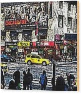 Streets Of Manhattan 20 Wood Print by Mario Perez