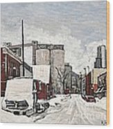 Streets Of Montreal Pointe St. Charles Wood Print by Reb Frost