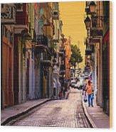 Streets Of San Juan Wood Print by Karen Wiles