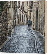 Streets Of Segovia Wood Print by Joan Carroll