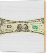 Stretching The Dollar Wood Print by Olivier Le Queinec