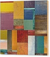 Strips And Pieces Ll Wood Print by Michelle Calkins