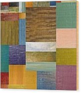 Strips And Pieces Lv Wood Print by Michelle Calkins