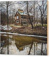 Sugar Shack In Deep River County Park Wood Print by Paul Velgos