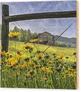 Summer Fields Wood Print by Debra and Dave Vanderlaan