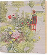 Summer In Sundborn Wood Print by Carl Larsson