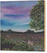 Summer Meadow Wood Print by Anastasiya Malakhova
