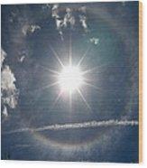 Sun Halo Wood Print by Lainie Wrightson