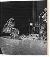 Sun Ra Dancer And Marshall Allen Wood Print by Lee  Santa
