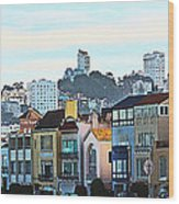 Sunday At Marina Green Park Fort Mason San Francisco Ca Wood Print by Artist and Photographer Laura Wrede