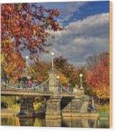 Sunkissed Lagoon Bridge Wood Print by Joann Vitali