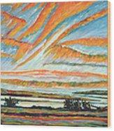 Sunrise Les Eboulements Quebec Wood Print by Patricia Eyre