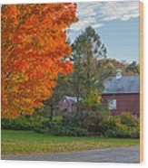 Sunrise On The Farm Wood Print by Bill Wakeley