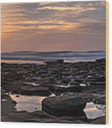 Sunset At The Tidepools IIi Wood Print by Peter Tellone