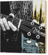 Sunset Country Pickin Wood Print by Kristie  Bonnewell