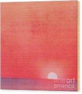 Sunset Impression Wood Print by Angela Doelling AD DESIGN Photo and PhotoArt