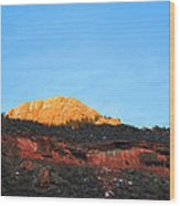 Sunset On Horsetooth Mountain Wood Print by Ric Soulen