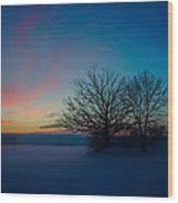 Sunset Over Sattuna Wood Print by Jonas Lind