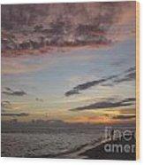 Sunset Stroll Wood Print by Elizabeth Carr