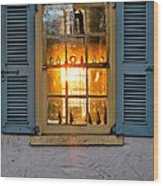 Sunset Through A Window Wood Print by Olivier Le Queinec