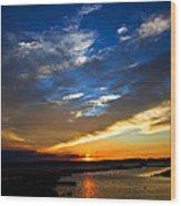 Sunset  Wood Print by Tim Buisman