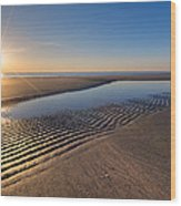 Sunshine On The Beach Wood Print by Debra and Dave Vanderlaan