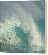 Surfing Jaws 3 Wood Print by Bob Christopher