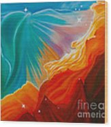 Swan Nebula Wood Print by Barbara McMahon