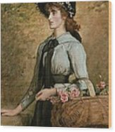 Sweet Emma Morland Wood Print by Sir John Everett Millais