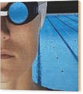 Swimmer With Goggles Wood Print by Don Hammond