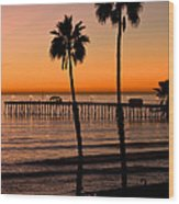 T Street Pier San Clemente California From The Book My Ocean Wood Print by Artist and Photographer Laura Wrede