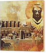 Takhat Bahi Unesco World Heritage Site Wood Print by Catf