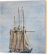 Tall Ship Denis Sullivan Wood Print by Dale Kincaid