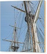 Tall Ship Rigging Wood Print by Dale Kincaid