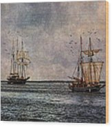Tall Ships Wood Print by Dale Kincaid