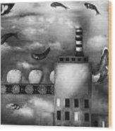 Tangerine Dream Edit 3 Wood Print by Leah Saulnier The Painting Maniac
