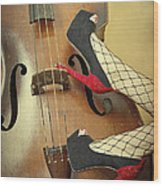 Tango For Strings Wood Print by Evelina Kremsdorf